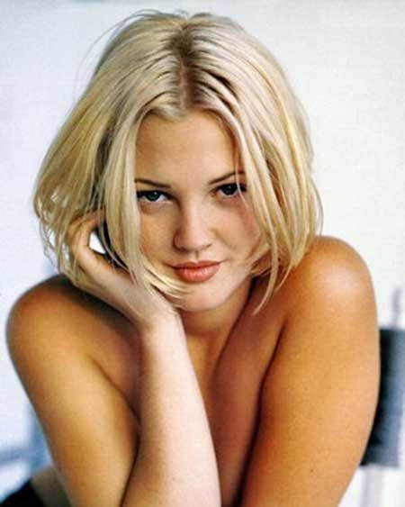 Drew Barrymore 90s hair bob