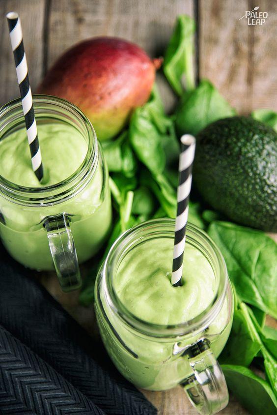 spinach green smoothie pinterest
