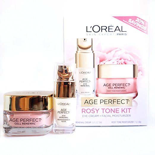 L'Oréal Paris Age Perfect Rosy Tone Face Moisturizer and Eye Renewal Cream Holiday Gift Set, $39.98