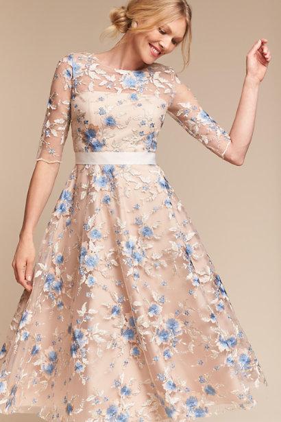 woman in lace dress