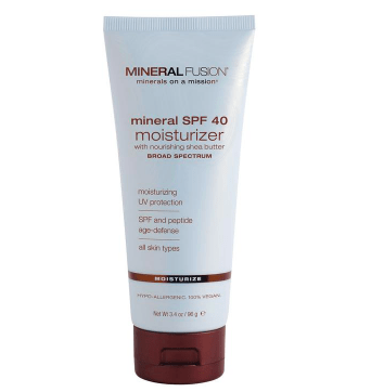mineral fusion blue and brown sunscreen bottle